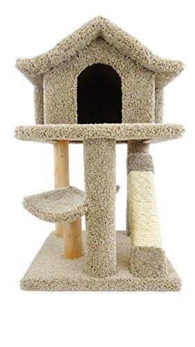 - New Cat Condos Premier Mini Cat Pagoda House, Brown