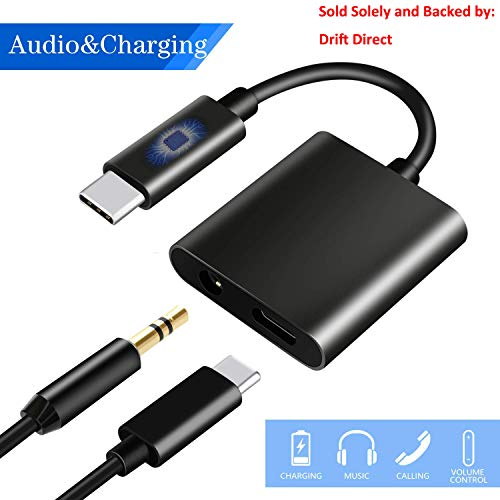 USB C to 3 5mm Audio Adapter, HiMusic 2 in 1 USB Type C Male to 3 5
