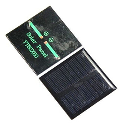 TOOGOO(R) 0.45W 5V solar panel polycrystalline drip sheet can be filled 3.7V size 60 * 60mm made solar panels