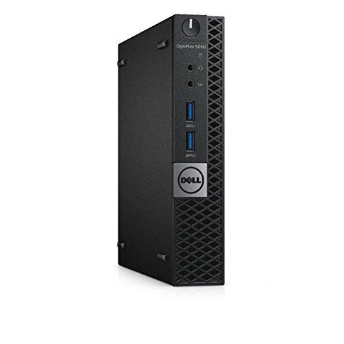 Dell 88C5K OptiPlex 5050 Micro Desktop PC with Intel Core i5-7500T, 8GB RAM, 128GB SSD, Black ()
