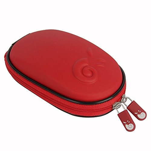 Hermitshell Hard EVA Storage Carrying Case Bag for Apple Magic Mouse (I and II 2nd Gen) and Carabiner (Red)