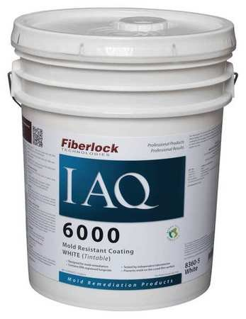 Mold-Resistant Coating, 5 Gal, White by FIBERLOCK TECHNOLOGIES