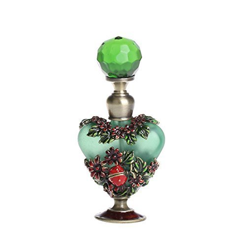Rattan Vintage (YUFENG Perfume Bottle Vintage Ancient Rattan Flower Pattern Perfume Bottles Empty Refillable (green))