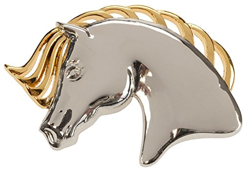 William Hunter Equestrian Gold & Silver Horse Head Brooch - The Head is in Three Dimensions - Mane Shows Cutouts - Can be Used as a Stock pin or Worn on a Jacket of Scarf