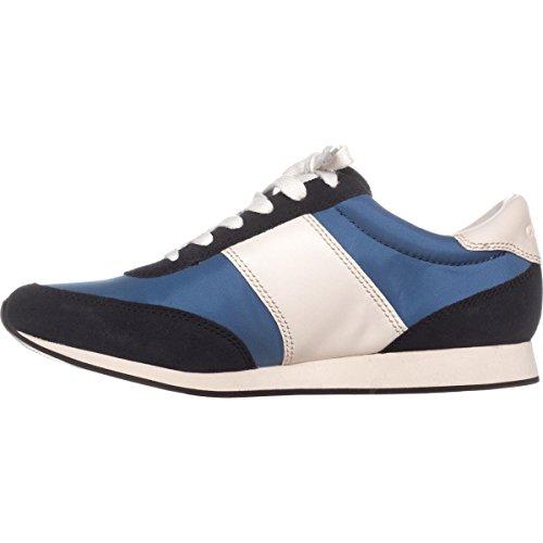 Coach Raylen Donna In Pelle Di Gesso Stringata Moda Sneakers Lapis / Blu Notte