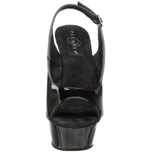 Pleaser DELIGHT-654 Blk/Blk UK 4 (EU 37 )