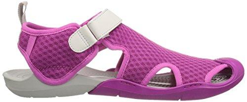 Crocs Women's Swiftwater Mesh W SMO Wedge Heels Sandals, Vibrant Violet Vibrant Violet