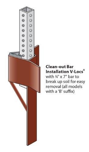 Tapco 175-VS3B V-Loc Traffic Post Breakaway Soil Anchor, ...