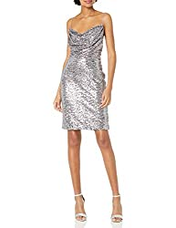 Short Cowl Neck Sequin Dress