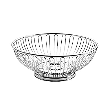 Towle Living Round Wire Basket, Silver