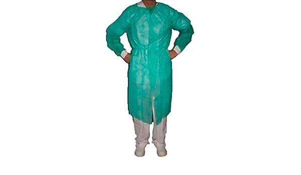 Bata protección puño tricotado esteril verde -5 unidades: Amazon.es: Salud y cuidado personal