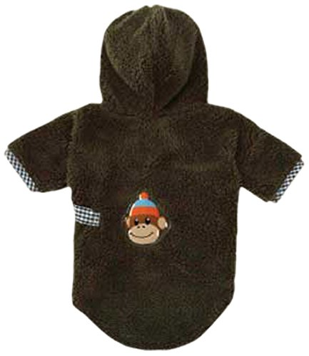 East Side Collection Ty Polyester Monkey Business Dog Bathrobe, XX-Small