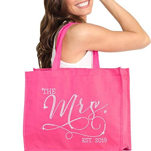 Pink Lingerie Shower (Pink Bride Tote Bag - Giant 18