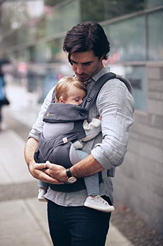 Ergobaby Carrier, 360 All Carry Positions Baby Carrier with Cool Air Mesh, Carbon Grey by Ergobaby (Image #4)