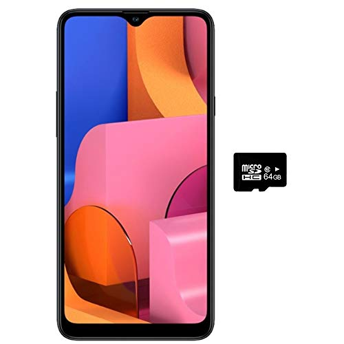 "Samsung Galaxy A20S w/Triple Cameras (32GB, 3GB RAM) 6.5"" Display, Snapdragon 450, 4000mAh Battery, US & Global 4G LTE GSM Unlocked A207M/DS - International Model (Black, 32GB + 64GB SD Bundle)"