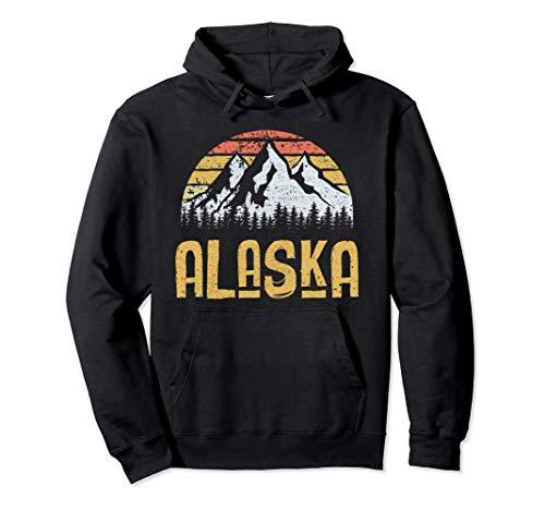 Vintage Retro Alaska U.S. Mountains Glacier Hoodie