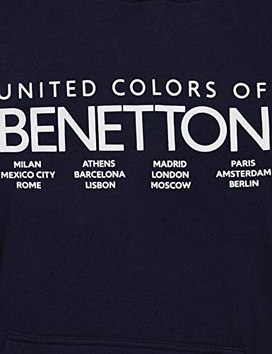 Uomo United Felpa Con 016 Benetton Cappuccio W Colors Of blu Sweater Scuro hood Blu xawzYRarq