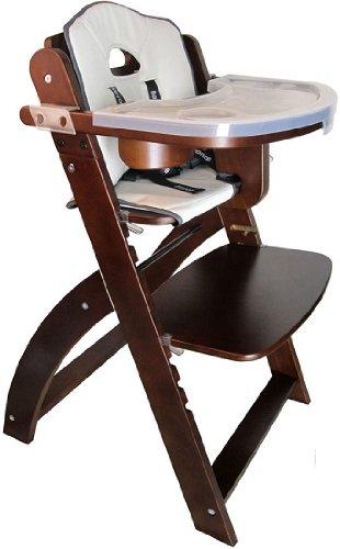 Abiie Eco-Friendly EZ Seat Y Chair Mahogany High Chair