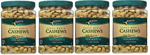 Planters Fancy Whole Cashews, Salted, 33 Ounce, 4 Tubs by Planters (Image #1)