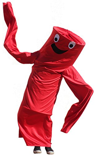 Wacky Waving Arm Flailing Tube Dancer Costume (Red Rumba)