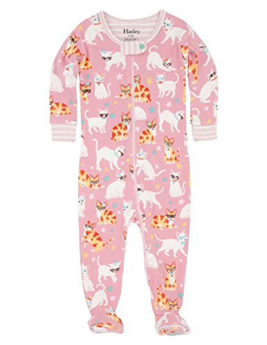 - Hatley Baby Girls' Toddler Organic Cotton Footed Sleepers, Cool Cats, 6-9M