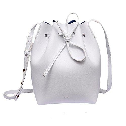 Cuir Dessiner White à Sac En Femme Diagonale Microfibre Sac épaule Seau Sac Main Sn1q0f