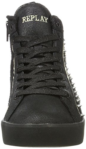 Penly Noir Femme Baskets Black REPLAY Hautes aFxn4dzUq