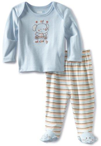 UPC 762061856575, Vitamins Baby-Boys Newborn 2 Piece Footed Pajama Set Cute And Cuddly, Blue, 3M