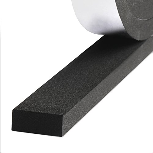 Closed Cell Foam Tape, Self Adhesive Weather Stripping Soundproofing Insulation Foam 1 inch Wide X 3/8 inch Thick X 13 Feet Long (1in 3/8in) Weather Resistant Door Speaker