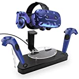 jiumoji Wireless Charging Dock Helmet Handle Dual Charger Stand Holder Station Compatible with HTC Vive/Vive Pro VR Controller