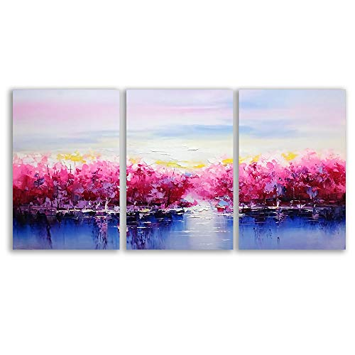 3 Plane Abstract Oil Painting Painting Wall Bedroom Living House x 3 Panels
