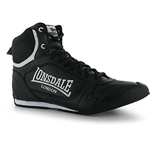 Sport Black White Mens Shoes Training Lonsdale Boxing Trainers Boots qgwOnSI1