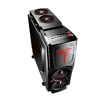 HoudelongTMPC-Gehäuse Gaming-chasis U3 lado de la carcasa ...