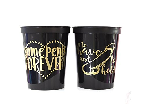 Bachelorette Party Same Penis Forever Plastic Stadium Cup, Set of 10 Cups