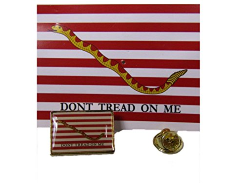 ALBATROS Gadsden 1st Navy Jack Donint Tread On Me Bike Motorcycle Hat Cap Lapel Pin for Home and Parades, Official Party, All Weather Indoors Outdoors ()