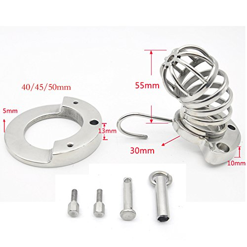 Hetam 40/45/50mm penis ring male chastity device Metal stainless steel Breathable cock cage erotic toys for men chastity cage by Hetam