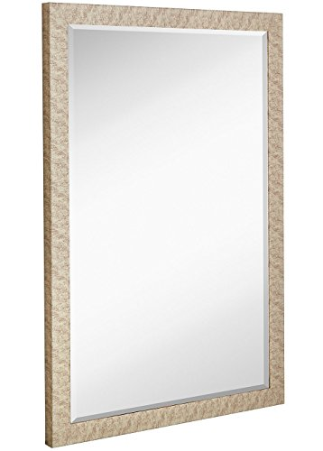 Modern Antiqued Framed Mirror | 1