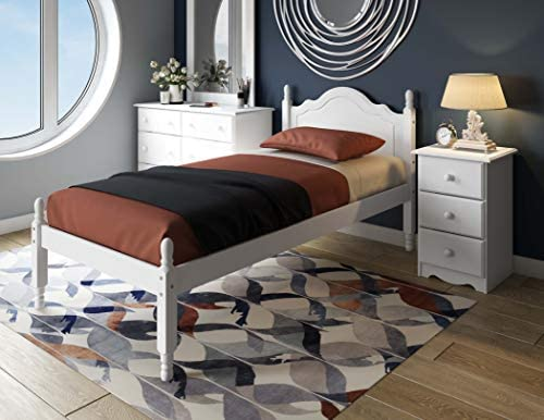100 Solid Wood Reston Panel Headboard Platform Bed 1431