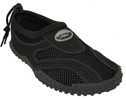 Easy USA Womens Aqua Wave Water Shoes Socks Black UMZR4YeAY