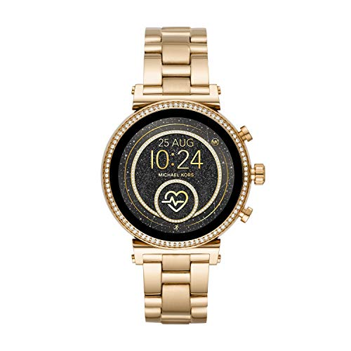Michael Kors Access Women's Sofie Heart Rate' Touch-Screen Smartwatch with Stainless-Steel Strap