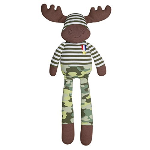 Apple Park Organic Farm Buddies Plush Toy – Marshall Moose, 14 inches
