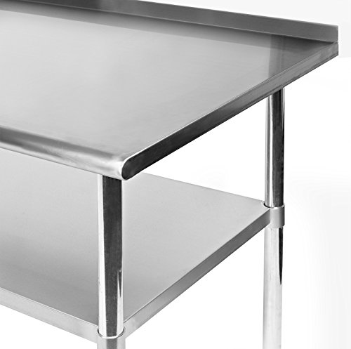 GRIDMANN NSF Stainless Steel Commercial Kitchen Prep & Work Table w/Backsplash - 72 in. x 24 in. by GRIDMANN (Image #3)