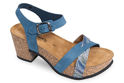 À Femme Talons Sandale Compensés G51001v Turquoise Valleverde HqFwzExt4n