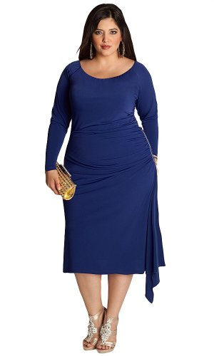 IGIGI Women's Plus Size Milan Dress in Royal