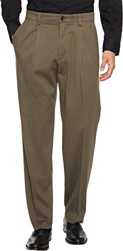 Four Pleated (Dockers Men's Easy Khaki Classic Fit Pant-Pleated D3, Dark Pebble, 34 30)