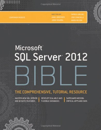 Microsoft SQL Server 2012 Bible Front Cover