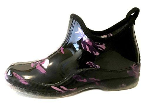 amp; Solids Rain Womens Short Prints 1118 Flower Shoes8teen Boots Purple qXpfwEY