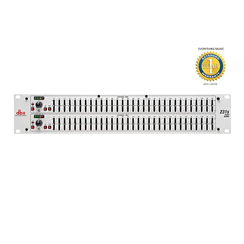 dbx 231s Dual Channel 31-Band Equalizer with 1 Year EverythingMusic Extended Warranty Free by DBX