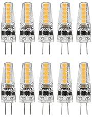 10st G4 Led-lampen, 2W 3000K AC 12-24V Bi-Pin Base Dimbare Lampen voor Kroonluchter Plafondlamp Tafellamp Warm Wit