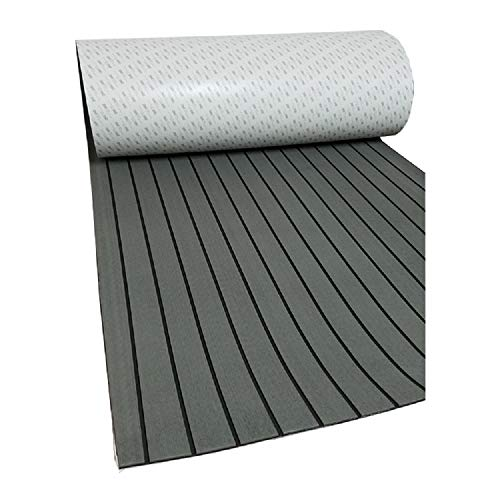 - YCSPORT 3 Pieces Marine Sheet Boat Yacht Flooring Synthetic Mat Decking Pad for RV Swimming Pool Garden Boat Yacht Flooring (Dark grey with black)